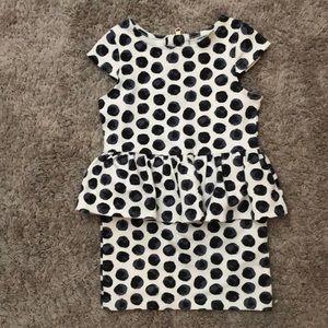 Black polka dot 4T dress